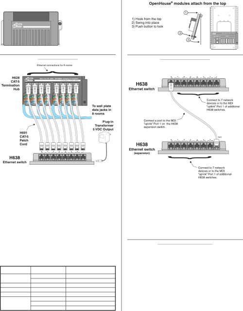 small resolution of linear h638 owners manual 222317athe h638 10 100 ethernet switch creates a home network between up