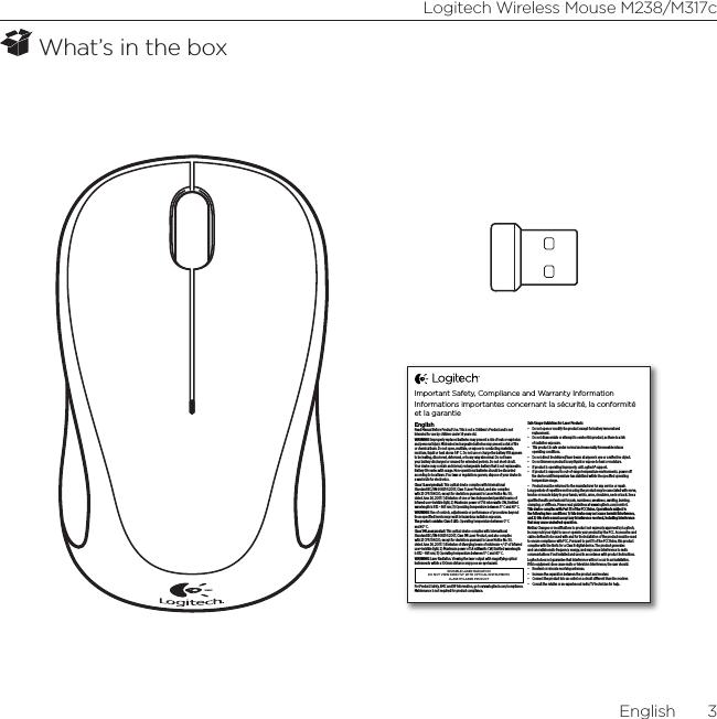 Logitech Far East MR0061 2.4GHz Cordless Mouse User Manual