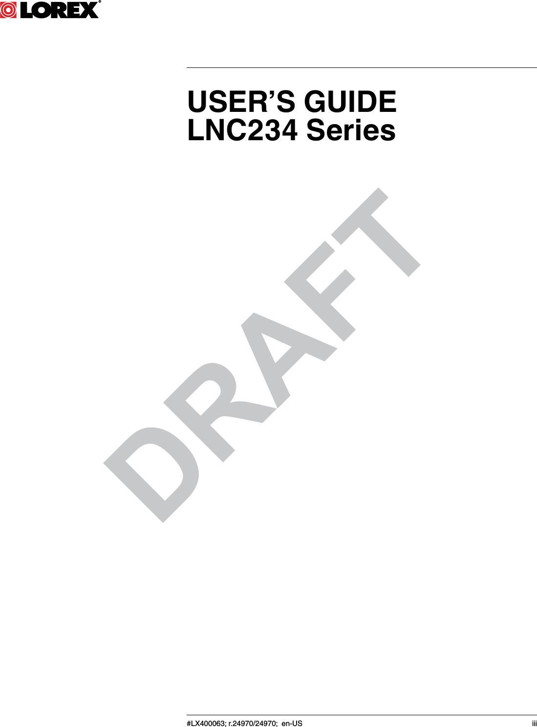 Lorex Technology LNC230-C HD Wireless Color Network Camera