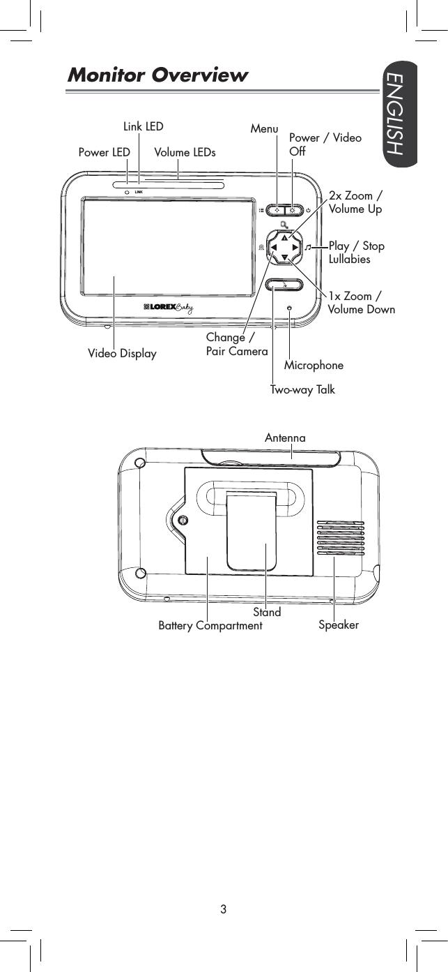 Lorex Technology M2251 2.4G Video Baby Monitor User Manual