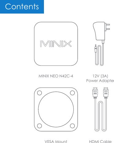 MINIX TECHNOLOGY NEON42C-4 Intel mini PC User Manual MINIX