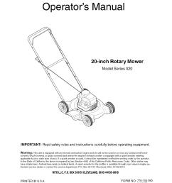 mtd push mower engine diagram [ 1224 x 1584 Pixel ]