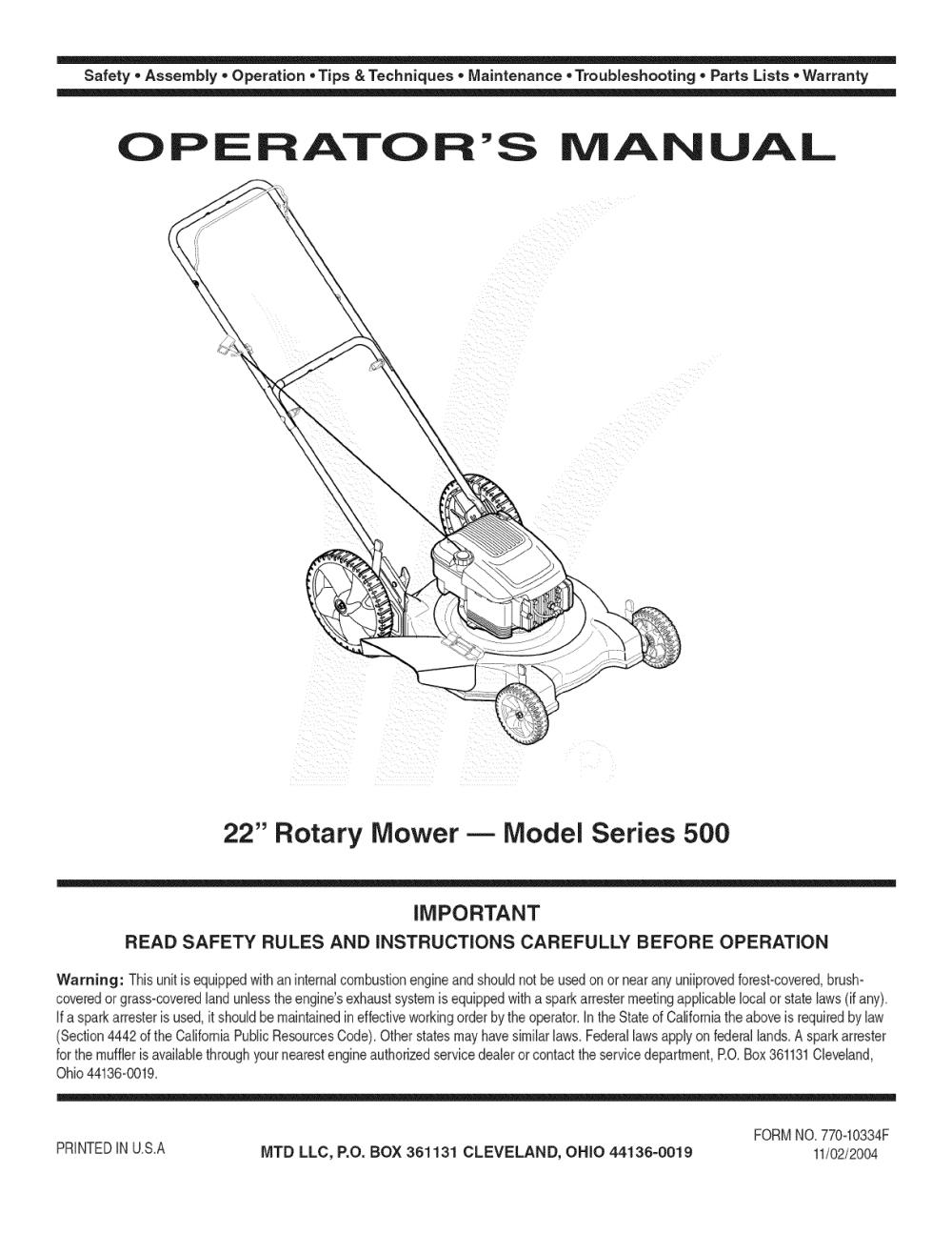 medium resolution of mtd push mower engine diagram