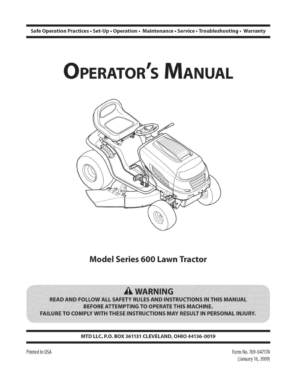 medium resolution of  array mtd 13al605h057 user manual tractor manuals and guides 1109241l rh usermanual wiki