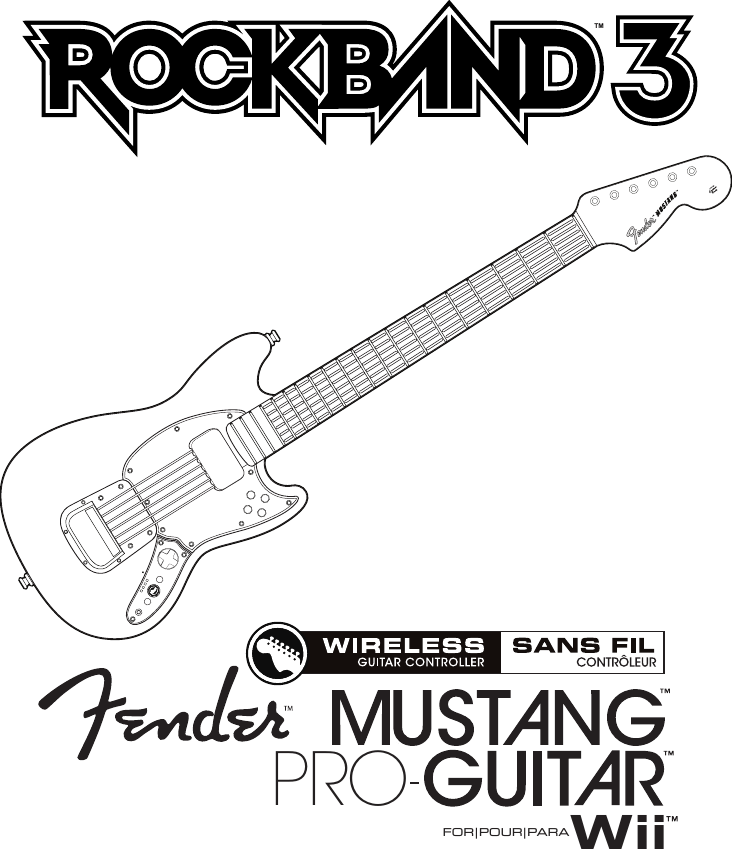 Mad Catz SU96563Y3010R Rock Band 3 Wireless Fender Mustang