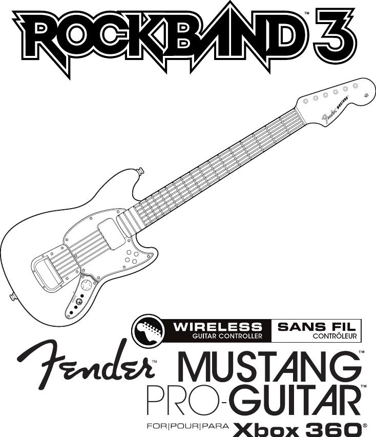 Mad Catz SU98563Y3010C Rock Band 3 Wireless Fender Mustang