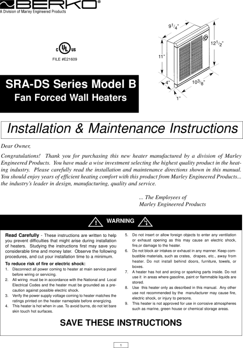 small resolution of marley wall heater wiring diagram
