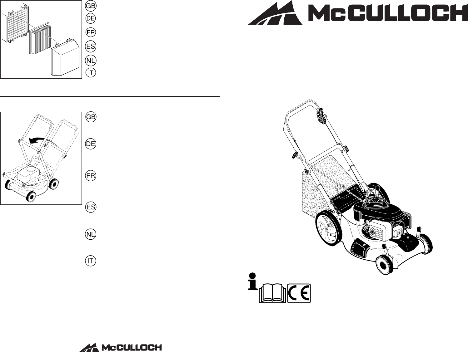 Mcculloch M5553D Users Manual OM, McCulloch, M5553 D