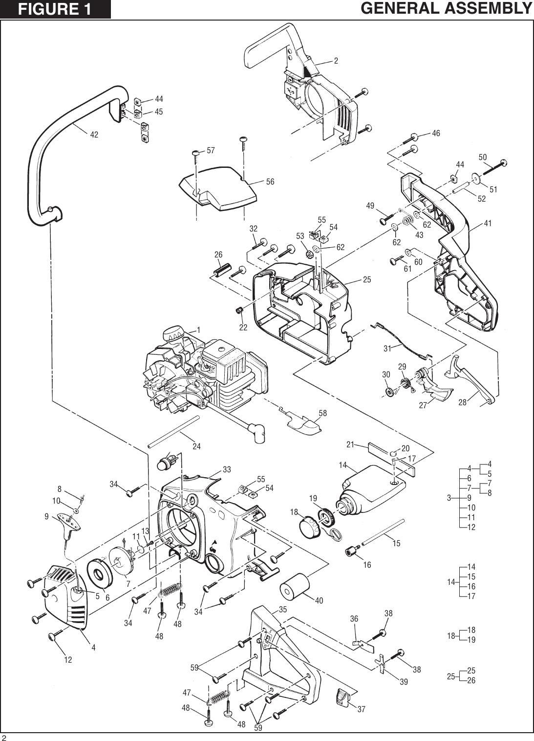 Mcculloch Ms1635Av Illustrated Parts Breakdown ManualsLib