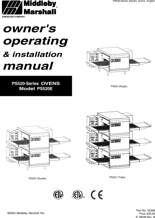 small resolution of  middleby marshall ps520 users manual ps520e fm pmd on marshall cabinets diagram marshall wiring