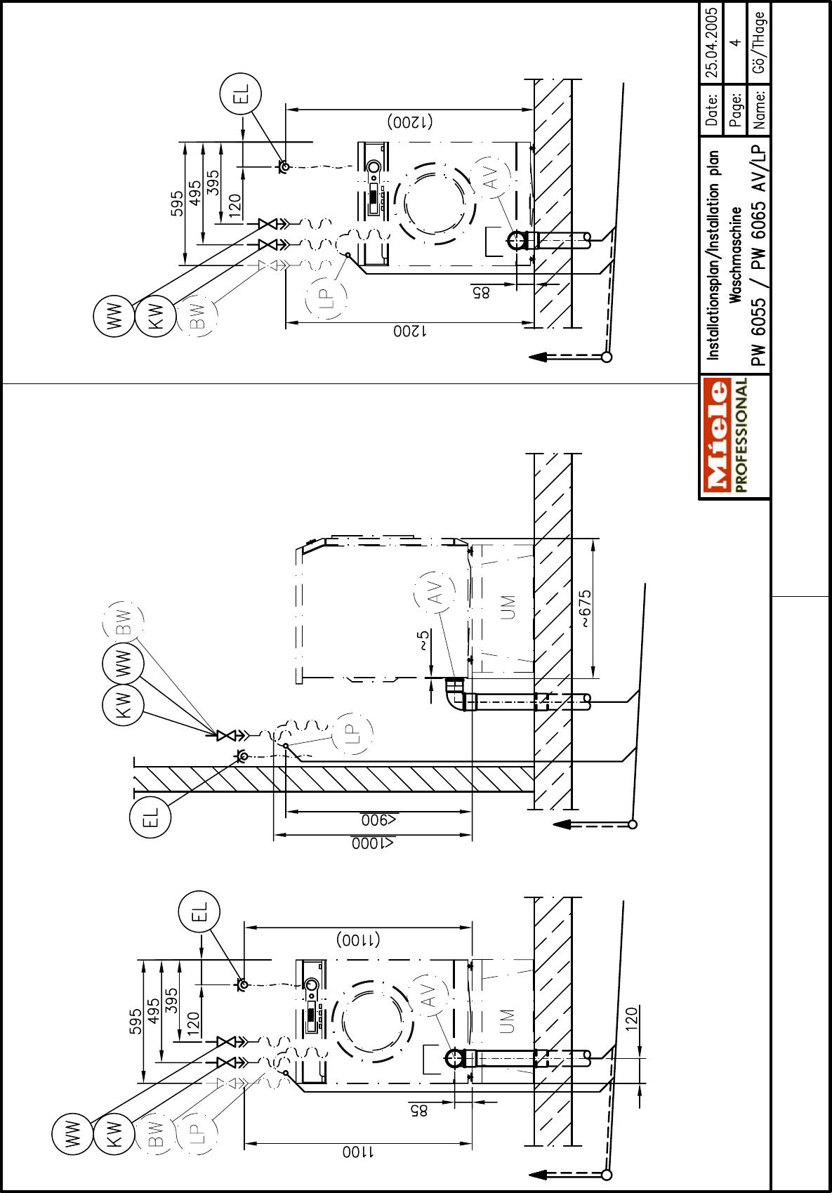 Miele Little Giant Pw 6065 Specification Sheet Deckblatt