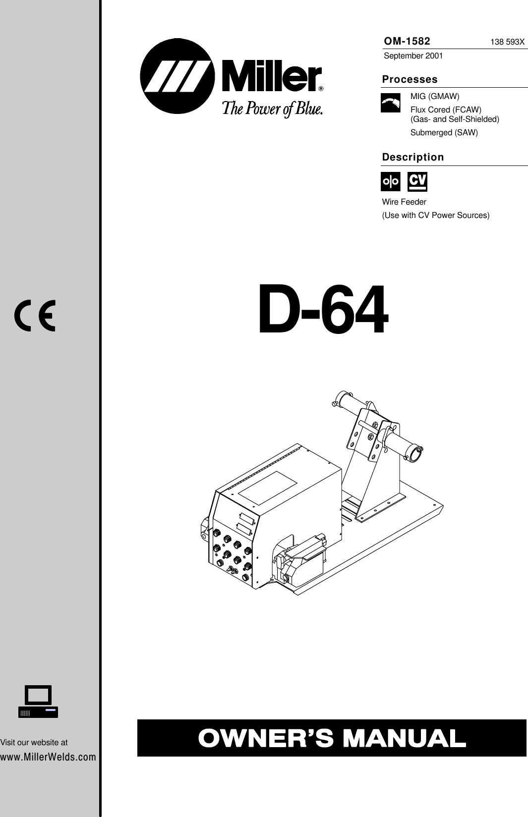 Miller Electric D 64 Users Manual