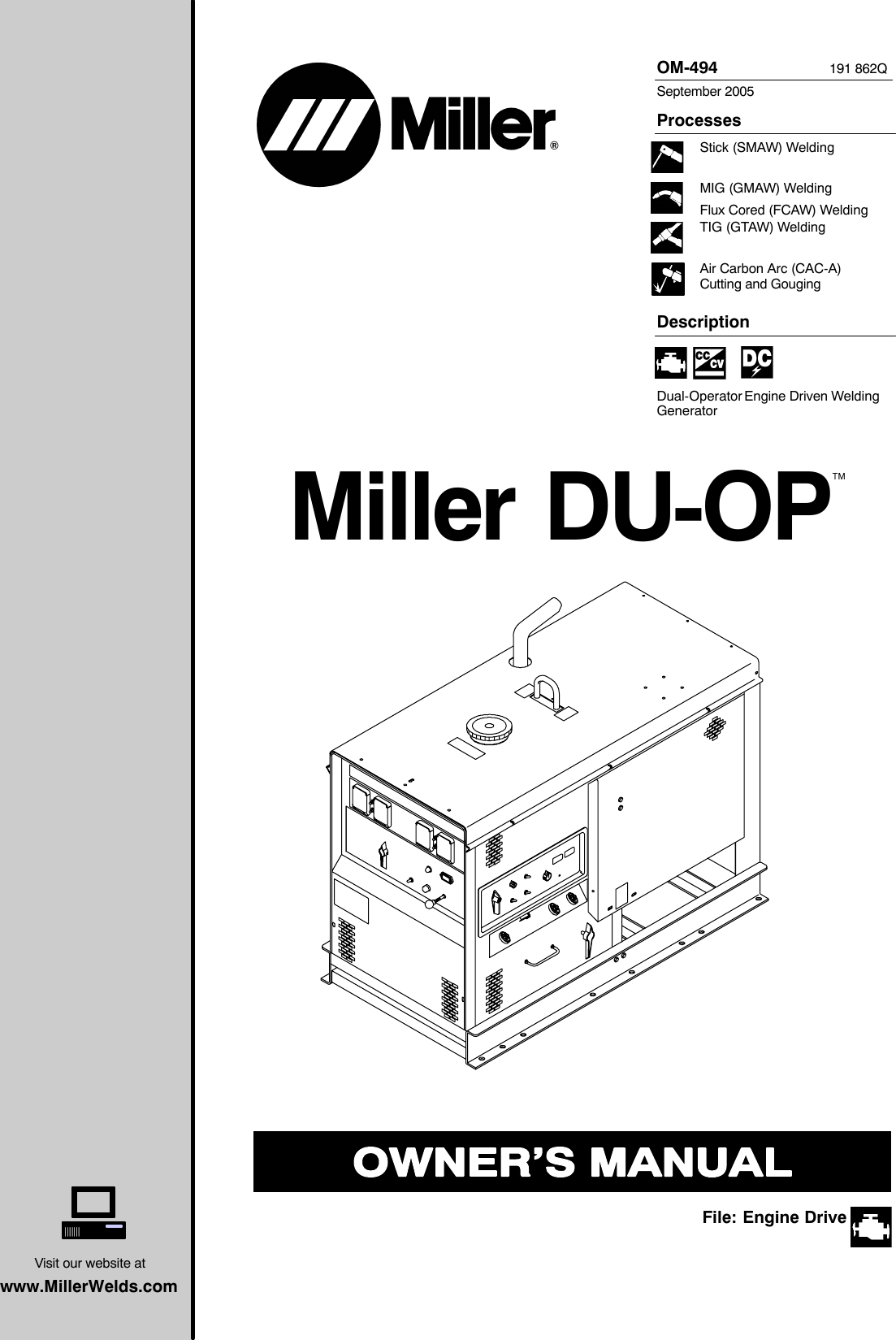 Miller Electric Du Op Users Manual O494q_mil(ECO3539)