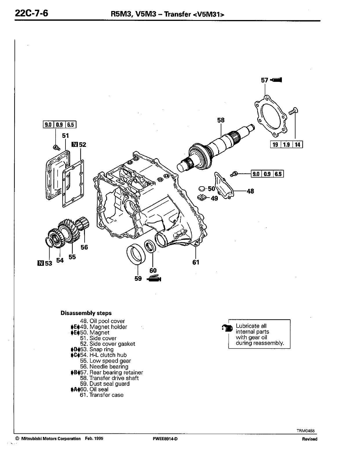 Mitsubishi Motors Automobile R5M3 Users Manual