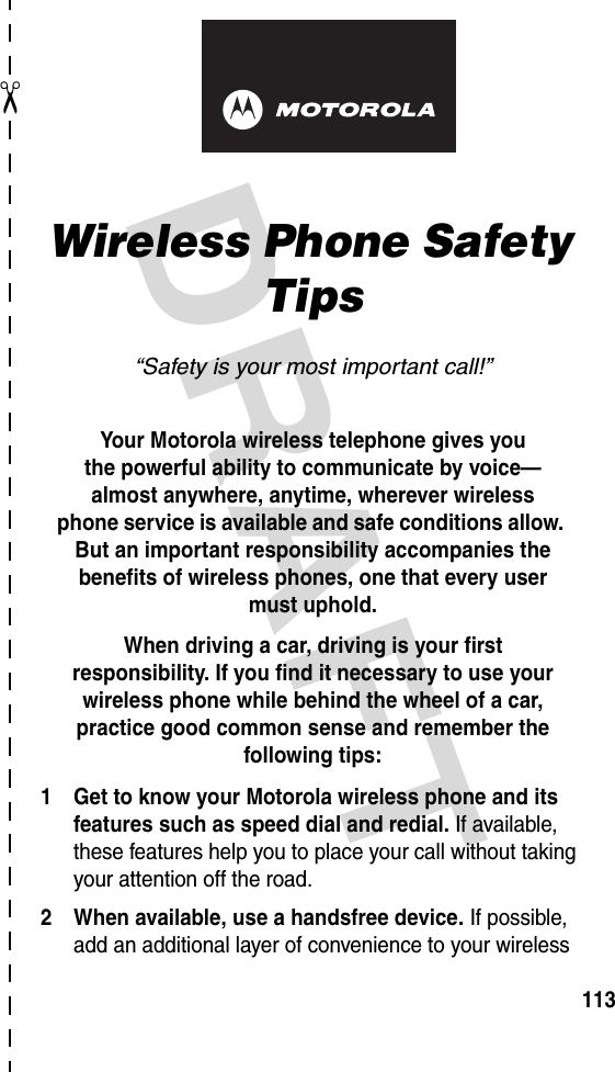Motorola Mobility T56DR1 Portable Cellular / PCS GSM