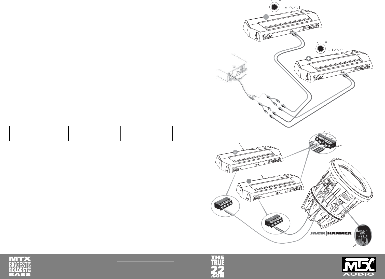 Mtx Audio Jackhammer Users Manual