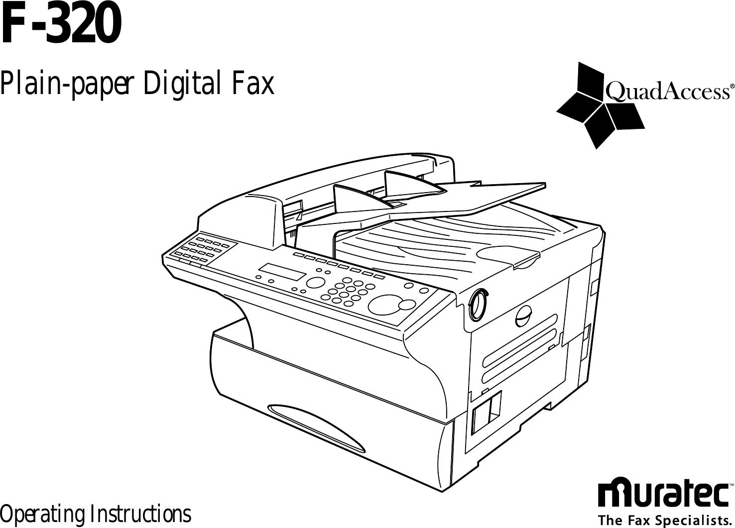 Muratec F 320 Users Manual