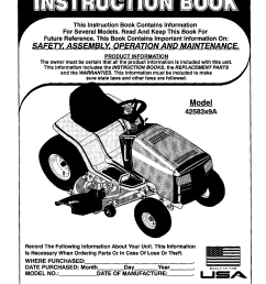 murray 42583x9a user manual lawn mower 16 5 h p 42 manuals and guides l0104221 [ 1232 x 1592 Pixel ]