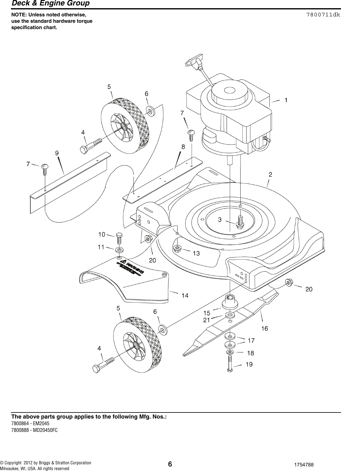 Murray Lawn Mower 7800864 Users Manual ILLUSTRATED PARTS