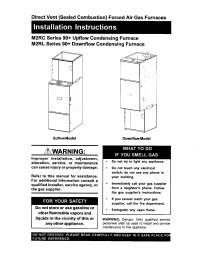 NORDYNE Furnace/Heater, Gas Manual L0612164