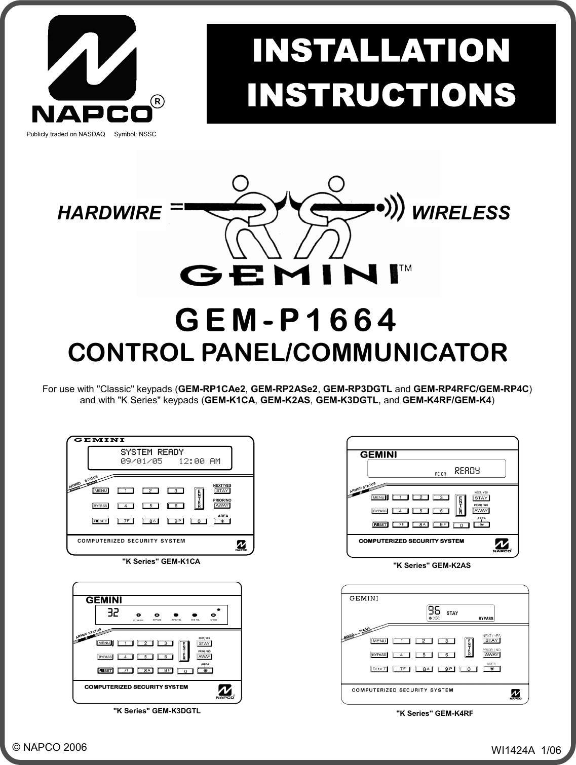 Gemini Designer Keypad GEM-K2AS Computerized Security
