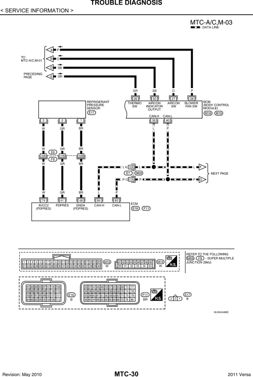 small resolution of nissan tiida air con wiring diagram