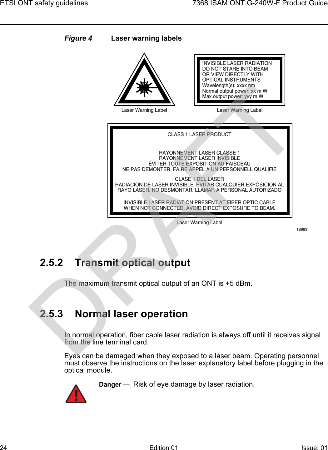 Nokia Bell G240WF G-240W-F User Manual 7368 ISAM ONT G