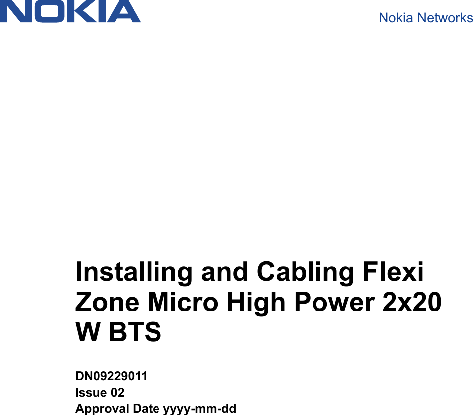 Nokia Solutions and Networks FZMFWHR01 Flexi Zone Micro