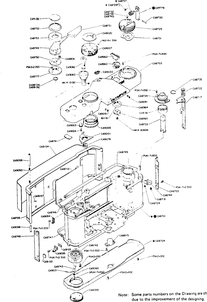 Olympus Om 1 Exploded View User Guide