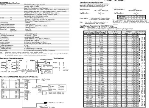 small resolution of page 4 of 4 omega engineering omega engineering omega tx802rtdf omega engineering tx802rtdf users manual 2 wire