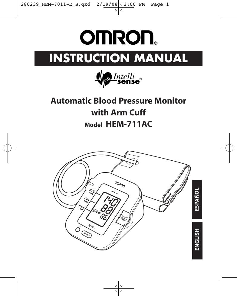 Omron M7 Intelli It User Manual