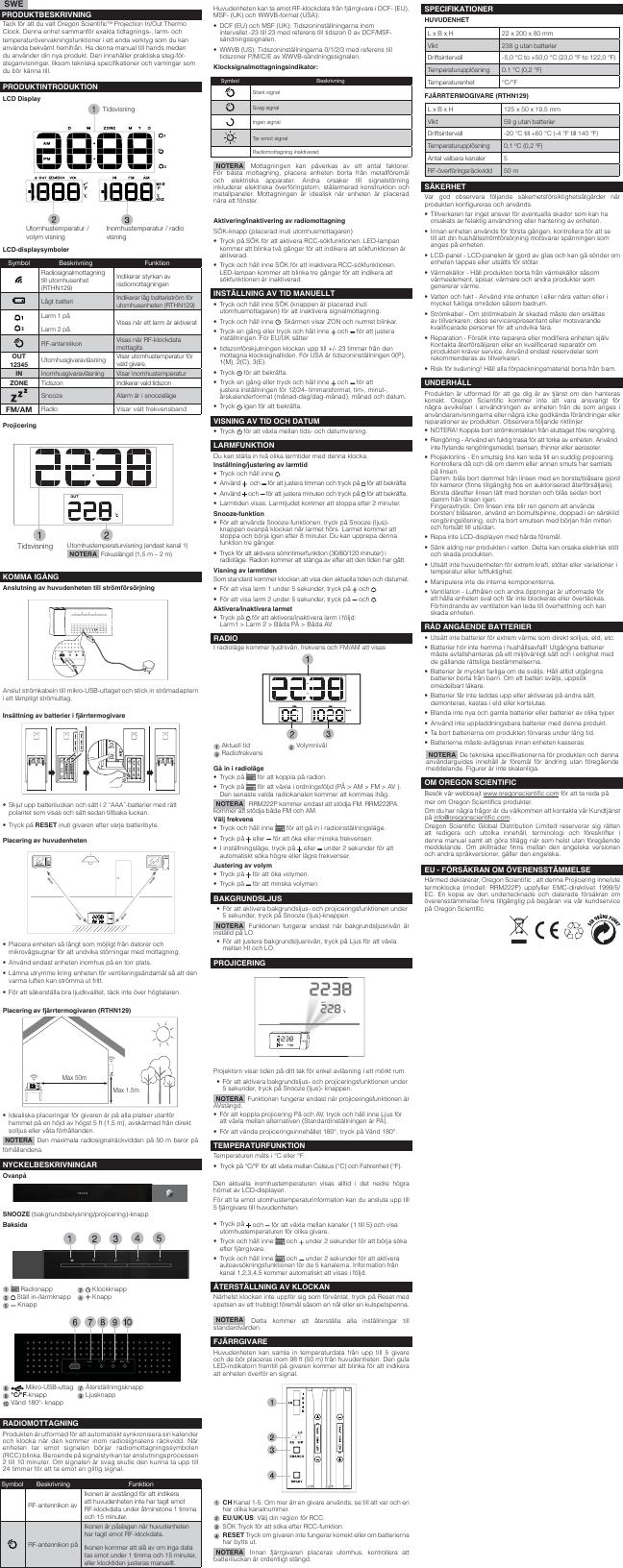 Oregon Scientific Rrm222P Rrm222Pa Users Manual