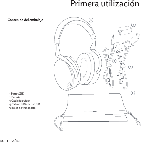 PARROT ZIK Bluetooth Headphones User Manual