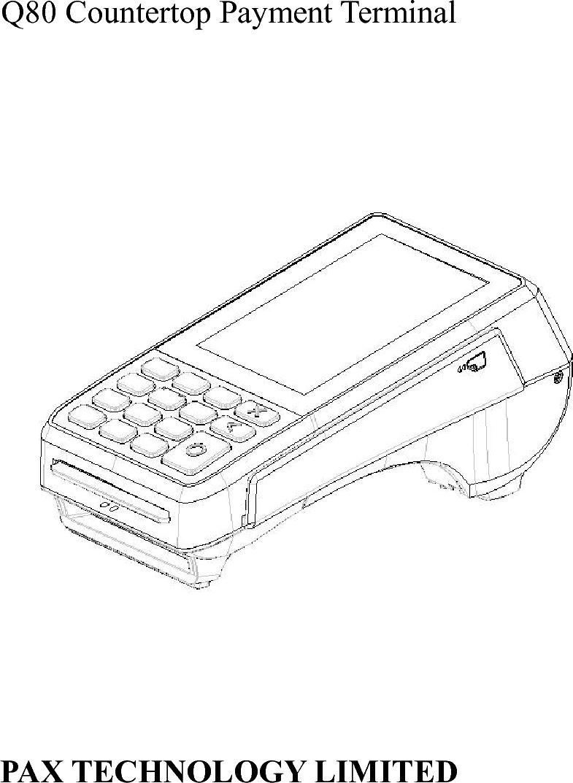 PAX Technology Q80 Countertop Payment Terminal User Manual