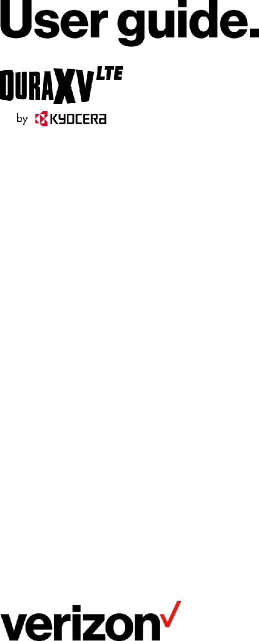 User Guide Kyocera duraxv lte english