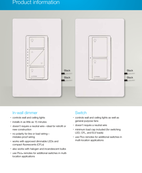 small resolution of page 6 of 12 lutron caseta l bdgpro wh brochure 1000255357 catalog