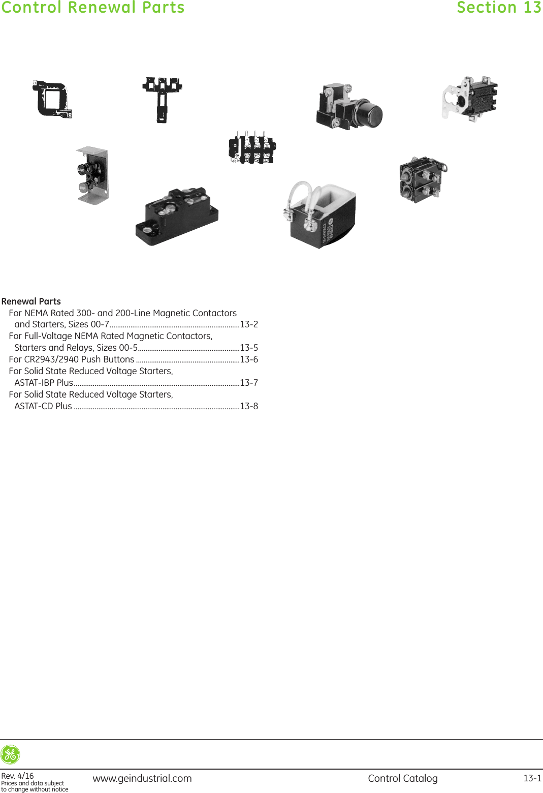 GE Control Catalog Section 14 Brochure