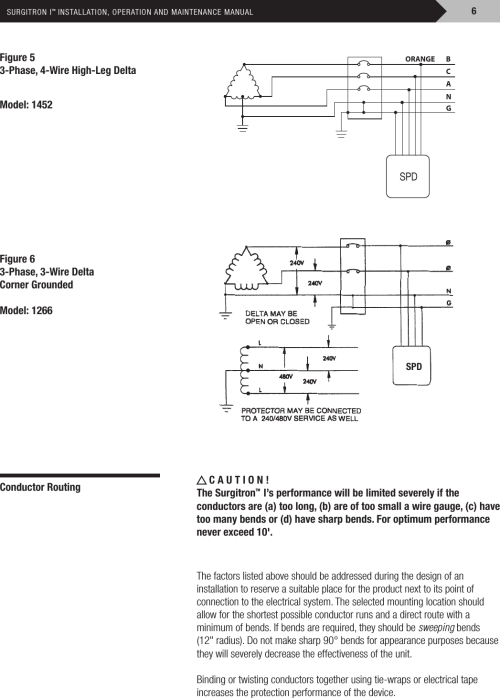 small resolution of installation directions on 120 208 3 phase diagram high leg delta connection open