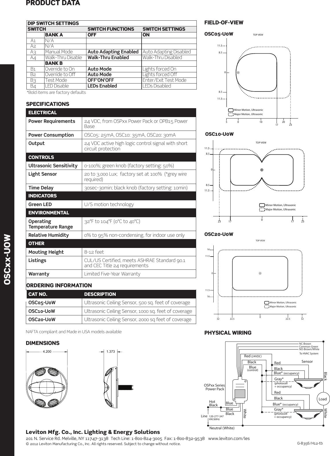 G 8356 OSCxx UOW DS REV Aug 12