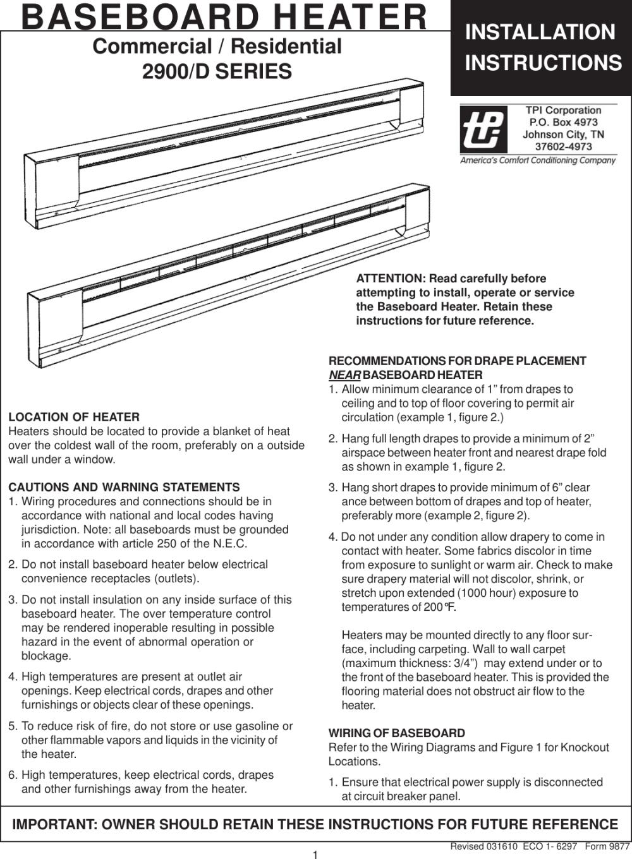 medium resolution of wiring baseboard heater in series