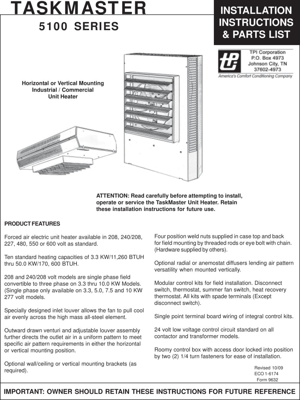 medium resolution of taskmaster unit heater wiring diagram schematic wiring diagrams heater element wiring diagram taskmaster 5100 heater wiring diagram
