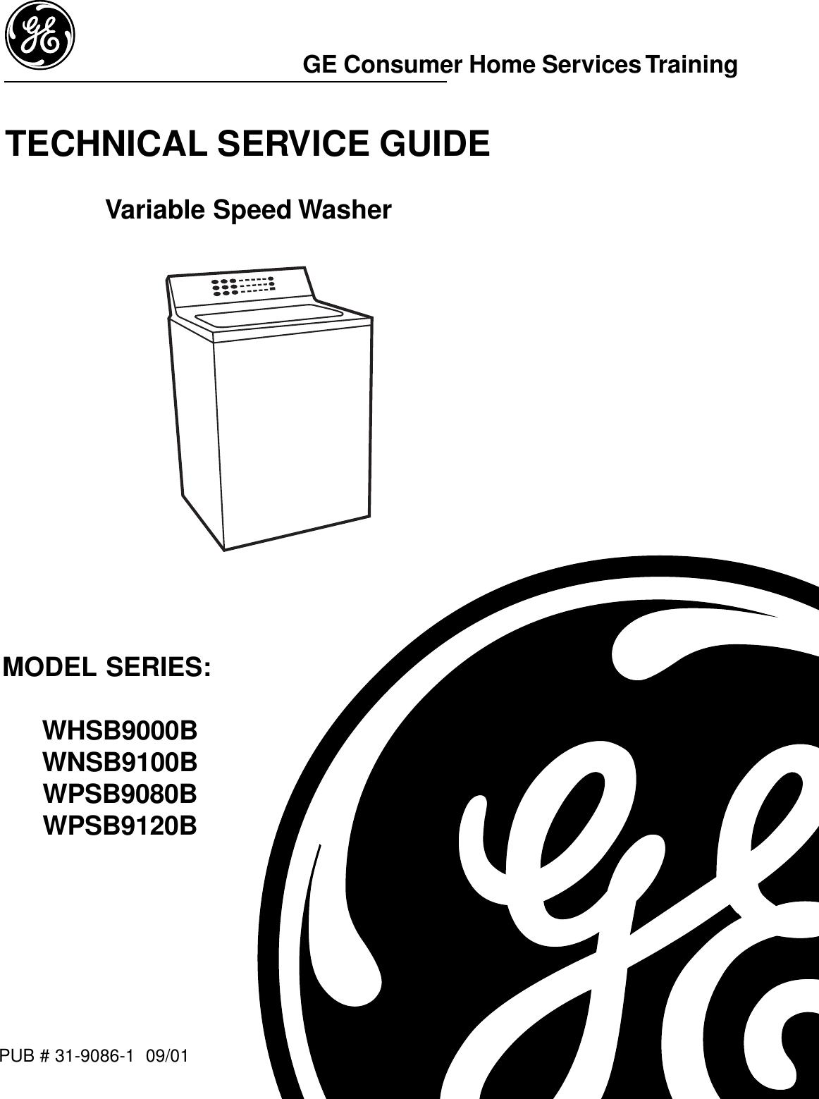 2 GE Top Load Washer WPSB9120 31 9086