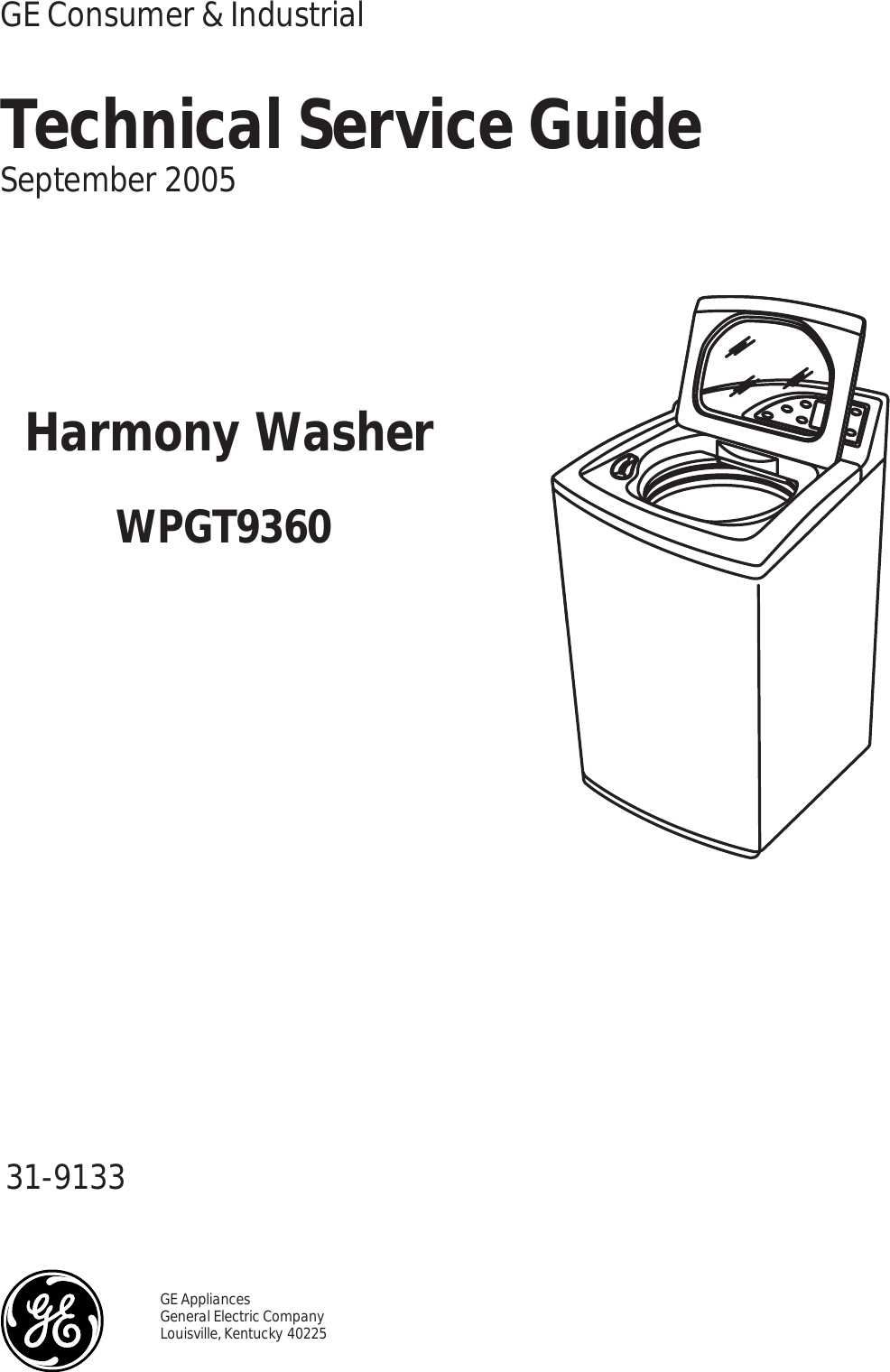 GE Washer Harmony WPGT9360 Ser Man 31 9133