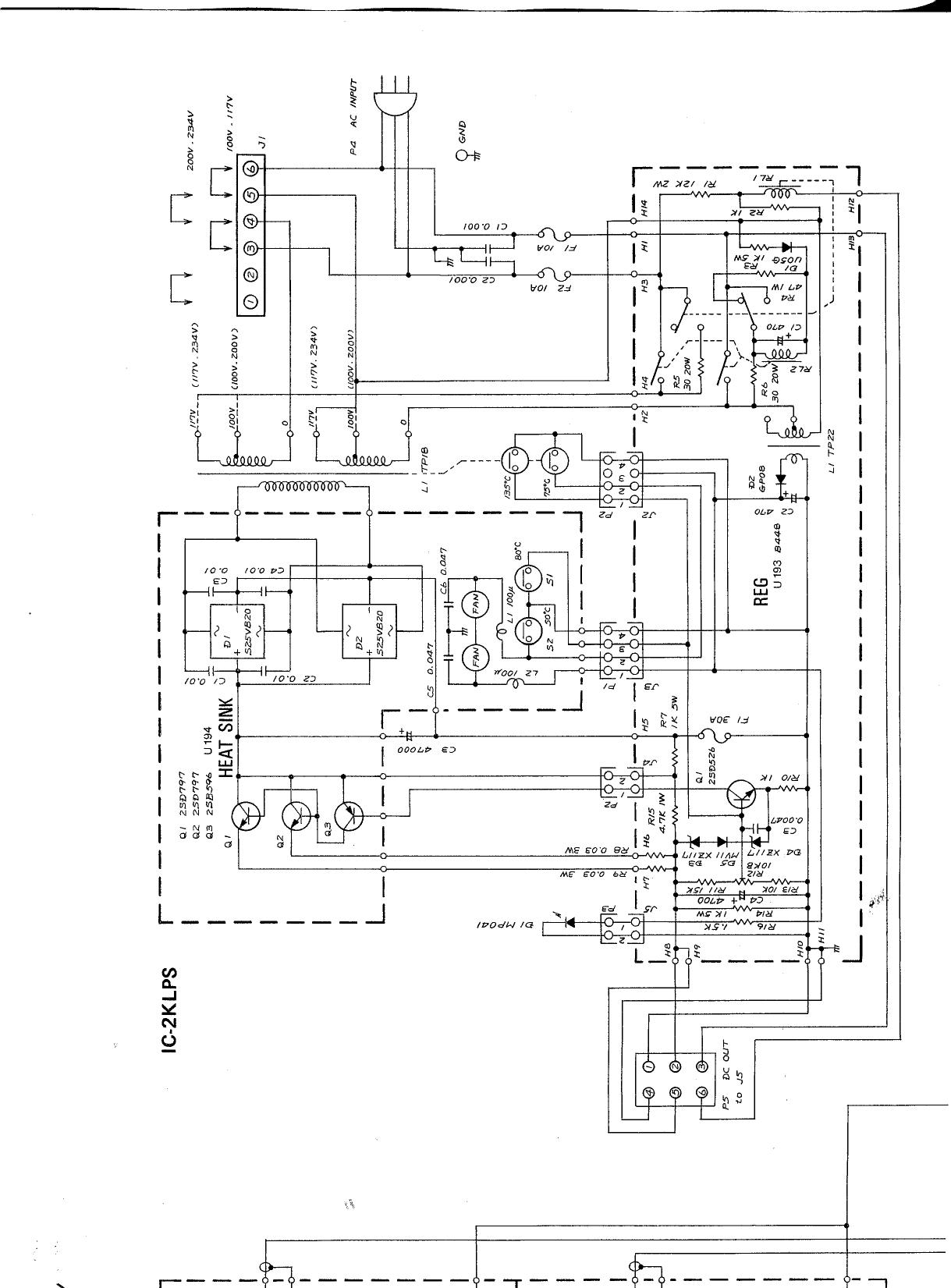 ICOM IC 2KL PS schematic diagram