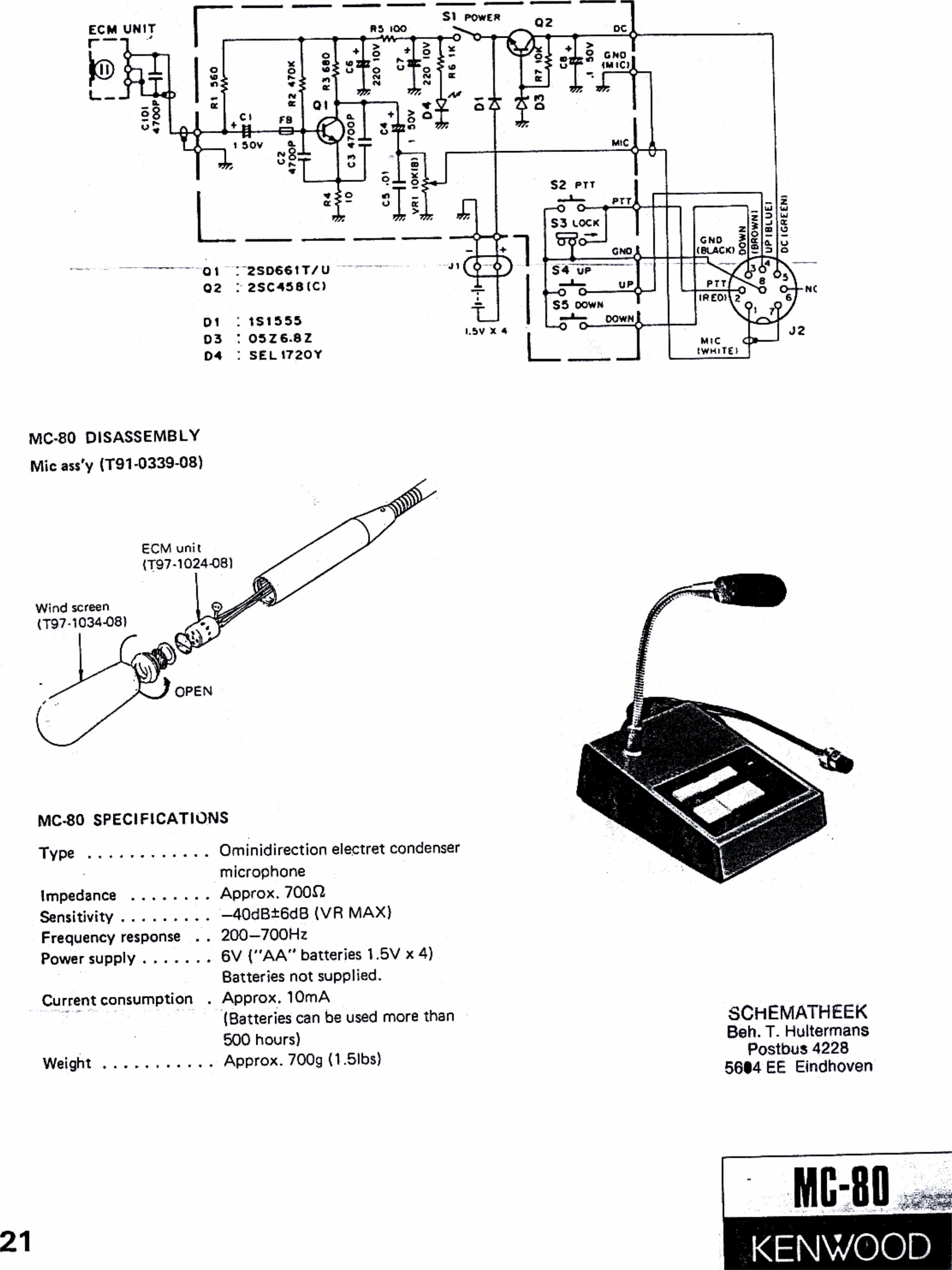 KENWOOD MC 80 Schematic+Specs Schematic Specs