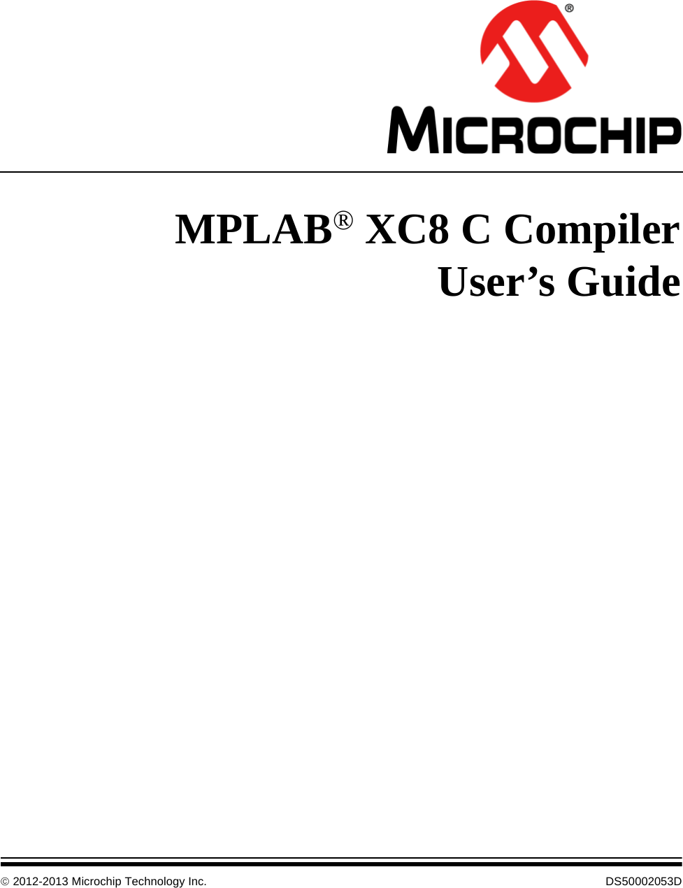 MPLAB XC8 C Compiler User's Guide User