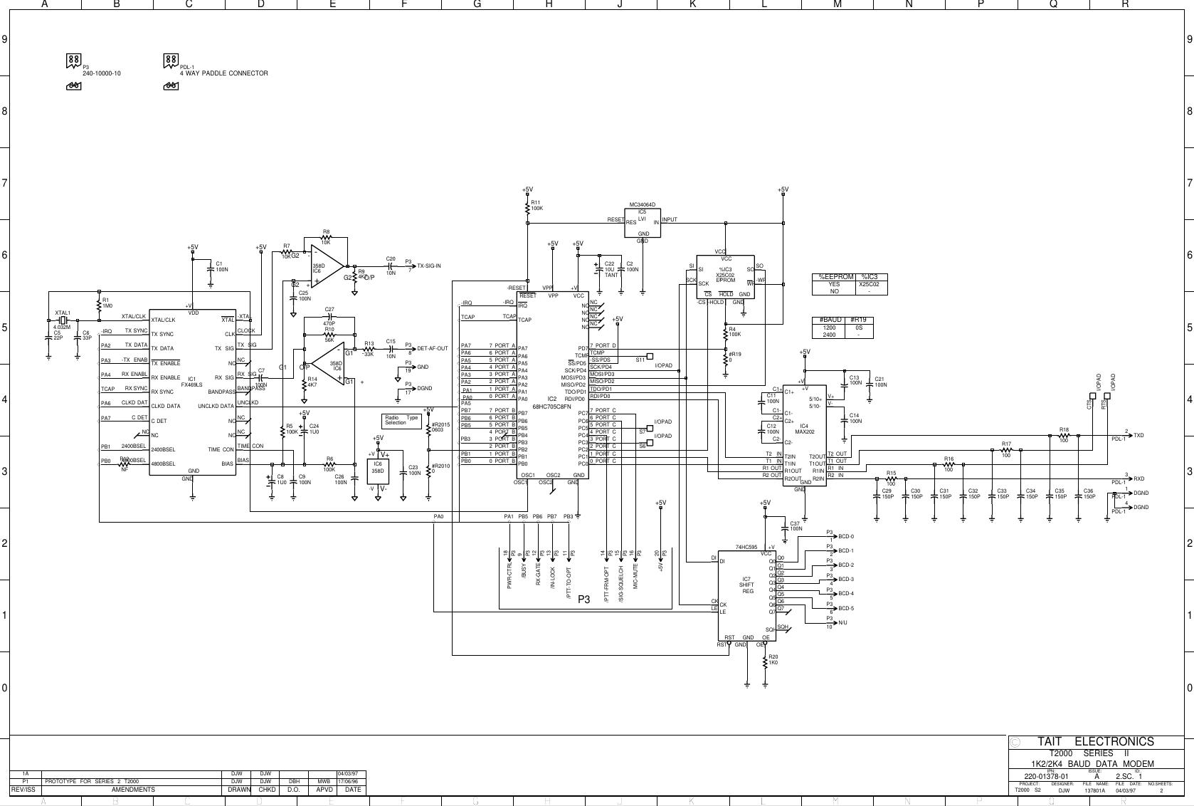 Modem Circuit Diagram / Internal Modem Schematics