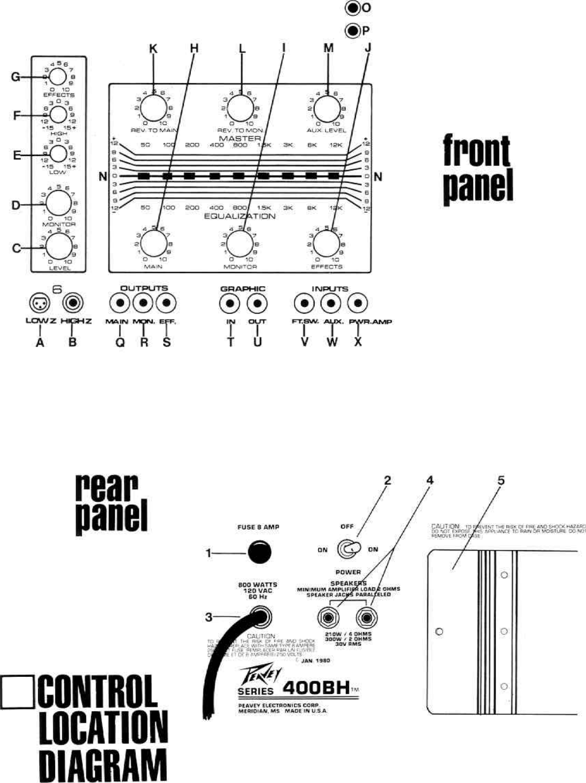 Peavey Xr 600B Users Manual