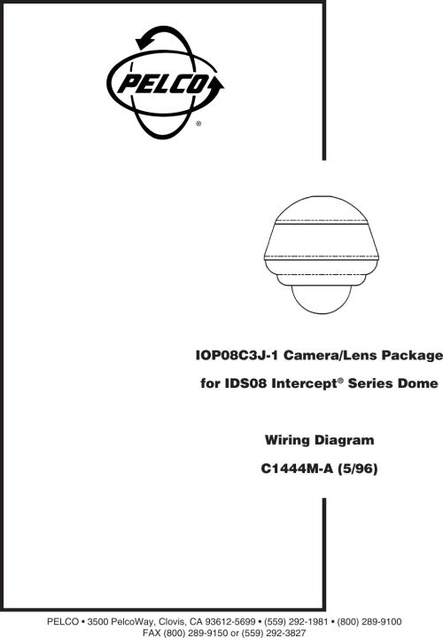 small resolution of pelco camera lens iop08c3j 1 users manual camera lens wiring diagram