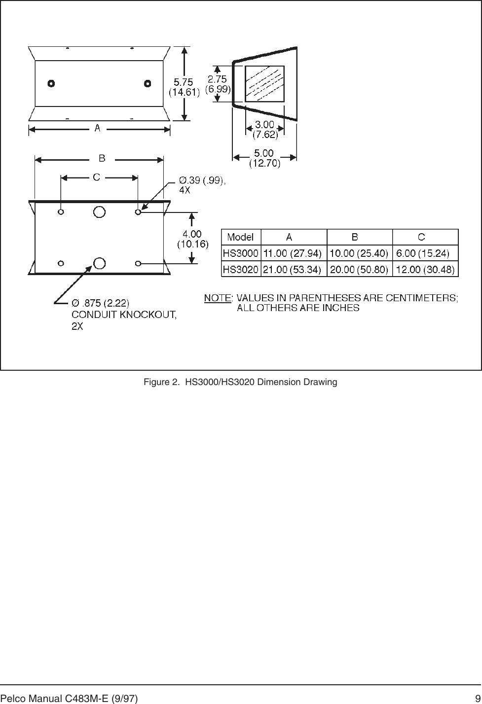 hight resolution of page 11 of 12 pelco pelco pelco security camera hs3020